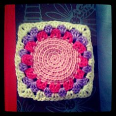 Ravelry: Spiral Mandala Square .1 pattern by Rowena The Buddhist