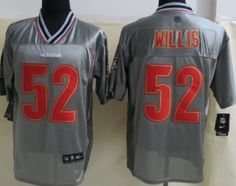 Nike San Francisco 49ers #52 Patrick Willis 2013 Gray Vapor Elite Jersey