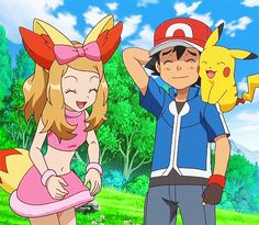Pikachu, Ash, and Serena in the Pokemon the Series: XY anime http://anime.about.com/od/Anime-Blu-Ray-and-DVD-Reviews/fl/Pokemon-the-Series-XY-Set-2-DVD-Review.htm