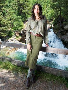"""""""Sablon"""" #Bluse by Brigitte von Boch #bevonboch #oliv"""