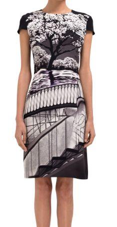 MARY KATRANTZOU  Uppety Do Fitted Cap Sleeve Dress