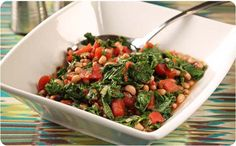 Kale with Tomatoes and Black-Eyed Peas ~ A tasty, good-for-you side dish to serve with any meal. | BetterThanBouillon.com