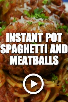 Instant Pot Spaghetti and Meatballs by Savory Experiments pot recipes for beginners beef Instant Pot Pressure Cooker, Pressure Cooker Recipes, Slow Cooker, Pressure Cooker Meatballs, Pressure Cooker Spaghetti, Zucchini Ravioli, Best Instant Pot Recipe, Instant Pot Dinner Recipes, One Pot