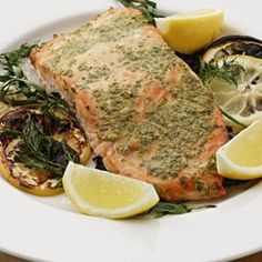 Grilled Salmon with Mustard & Herbs - EatingWell.com