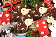 Decorated Woodland Deer Cookies Tutorial ~ LilaLoa