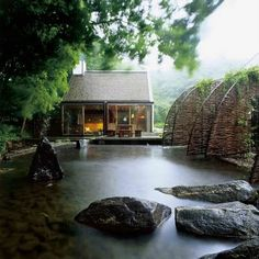 Swedish Sauna House - The Mill House is a vacation home in Vastra Karup, Sweden Miller House, Sauna House, Zen House, Farm House, Forest House, Architecture Design, Water Architecture, Architecture Interiors, Pond Design
