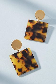 Amber Sceats Nevada Square Drop Earrings #anthrofave