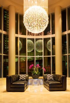 Hotel Lobby Chandelier #CrystalStyle