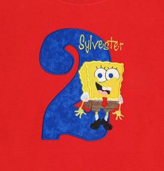 c55dd9a491 PERSONALIZED SHIRT - BIRTHDAY Shirt - Spongebob - Boy - Named Shirt -  Number Shirt -