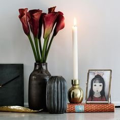 Vase fra Broste Laust i brun og bronze keramik