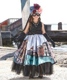 chasing fireflies Venetian Carnival Queen Dress - Girls   zulily