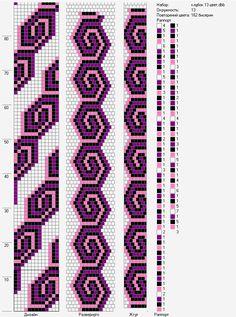 13 around bead crochet rope pattern Bead Crochet Patterns, Bead Crochet Rope, Beaded Jewelry Patterns, Beading Patterns, Stitch Patterns, Crochet Beaded Bracelets, Bead Loom Bracelets, Beaded Crafts, Beaded Banners