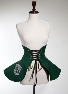 Harry Potter Hogwarts Slytherin House Inspired Cincher Skirt S/M- Made to Order via Etsy Other sizes available in my shop