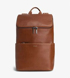 """DEAN - CHILI - unify vintage collection - SOLD by Matt and Natt - Backpack with adjustable shoulder straps. Slit pockets on the sides and front zipper pocket. Top zipper closure.Interior: 13"""" padded laptop compartment, zipper pocket, smartphone pocket, logo-embossed Vintage tag. 100% recycled nylon lining."""