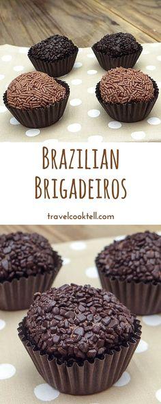 Brazilian Brigadeiros Travel Cook Tell Desserts Français, French Desserts, Dessert Recipes, Plated Desserts, French Dishes, Chocolate Shavings, Chocolate Truffles, Yummy Treats, Sweet Treats