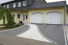 Block Paving Driveway, Asphalt Driveway, Driveway Design, Driveway Landscaping, Concrete Driveways, Walkways, Garden Slabs, Front Yard Walkway, Backyard Garden Design