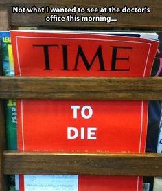 Oroväckande i doktorns väntrum.