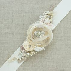 Your place to buy and sell all things handmade Wedding Belts, Wedding Sash, Wedding Stuff, Dream Wedding, Bridal Sash Belt, Sash Belts, Ribbon Work, Baby Bows, 25th Anniversary