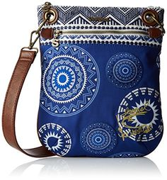 Desigual Bandolera Blackville Cross Body Bag, Royal, One Size -- You can find more details at http://www.passion-4fashion.com/handbags/desigual-bandolera-blackville-cross-body-bag-royal-one-size/?yx=300616064554