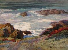 """Winter Surf Rocky Point  Oil on Canvas  36 x 48  """"...there are few moments so thrilling for an artist as watching the colors of roiling and churning white water surf in sunlight...but then...nothing seems so impossible as to put all that into a seascape with mere paint...therein lies the rub..."""" The Rub, Water Surfing, Rocky Point, Ethereal, Sunlight, Oil On Canvas, Art Ideas, Paintings, In This Moment"""