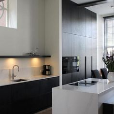 Kitchen Island, Kitchen Cabinets, Living Room Interior, Minimalist Design, My House, Kitchen Design, House Design, Contemporary, Cool Stuff