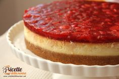 Cheesecake alle fragole (ricotta, philadelphia, panna) COTTA