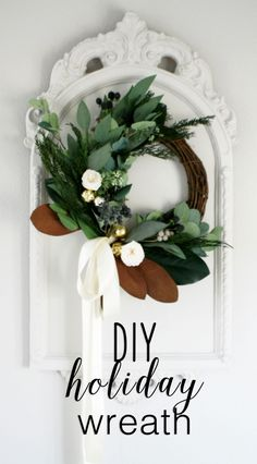 DIY Holiday Wreath.