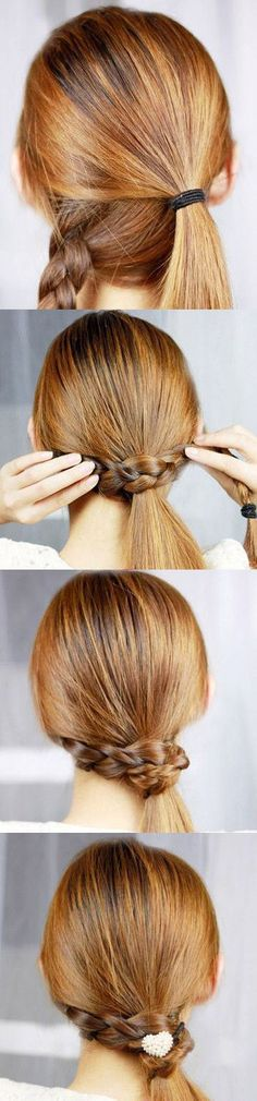 The Braid-Wrapped Ponytail | From Classy to Cute: 25+ Easy Hairstyles for Long Hair http://www.jexshop.com/