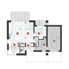 DOM.PL™ - Projekt domu DZW ATRAKCYJNY 2 CE - DOM DW1-14 - gotowy koszt budowy Modern House Design, Floor Plans, Architecture, Denim Quilts, Modern Home Design, Modern Houses, Architecture Illustrations, Floor Plan Drawing, House Floor Plans