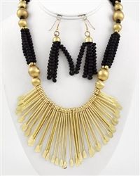 Find your inner boho when you wear this exotic tribal necklace. Rows of multi-color chain and matching earrings make statement that's sweet and show-stopping sexy at the same time. $12.99
