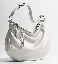 white leather coach purse- love the white but would never keep it clean.