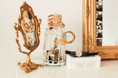 i love this so much! haha i know that the golden framed mirrors are from ikea... but where can i find those lovely tiny birdcages?  (vintage bedroom decor) (diy decor ideas)