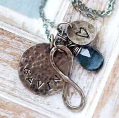 With an added charm for date of birth - Mother's Necklace Personalized Necklace Mom by jemmijewelry, $72.00