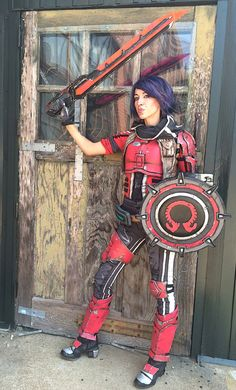 Lil Red Rogue: My completed Athena the Gladiator from Borderlands Pre-Sequel. ^.^ #Cosplay #BorderlandsCosplay #Athena #Borderlands
