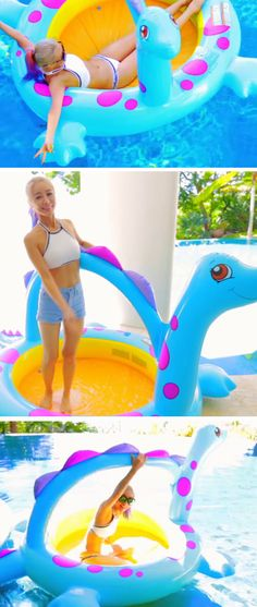Avoid Getting Wet in Pool with Inflatable Pool | Awesome Summer Life Hacks for Teens