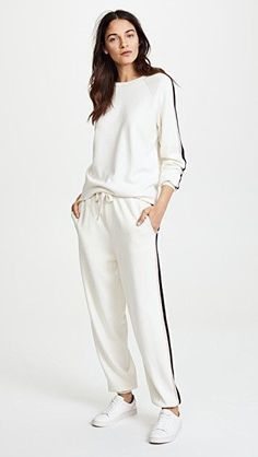Amazing offer on Olivia von Halle Missy Moscow Tracksuit online - Proalloffer Olivia Von Halle, Sport Fashion, Look Fashion, Womens Fashion, All White Outfit, Winter Fashion Outfits, China Fashion, Lingerie Sleepwear, Sporty Outfits