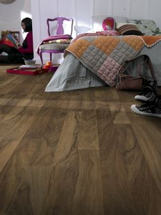 Enjoy thermal and acoustic #comfort for this #collection which provides #perfect comfort of moving through all the #rooms. Its #simple and #classic #flooring patterns makes it particularly suitable for installation into #bedrooms. #Flooring from Casual 832 #Tarkett, #Goodrich