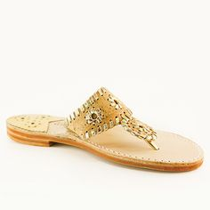 Spruce up your warm-weather ensemble with this shimmering sandal crafted from supple leather for luxe comfort. A woven floral pattern lends boho-glamour to your look. Palm Beach Sandals, Summer Shoes, How To Look Pretty, Leather Sandals, Slippers, Flats, Pure Products, Chic, My Style