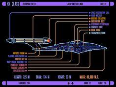 ICARS schematic of Columbia-class starship; U.S.S. Enterprise NX-01