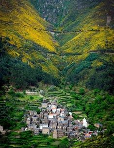 "Deep into the mountains of Portugal,a litle aldeia ""village"" called Piodão. Places In Portugal, Visit Portugal, Portugal Travel, Spain And Portugal, Places To Travel, Places To See, Travel Destinations, Wonderful Places, Beautiful Places"