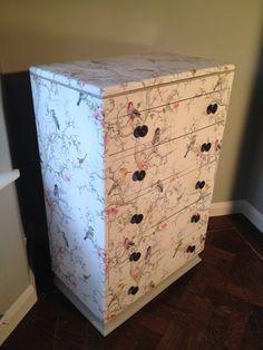 Wallpapered Furniture by Christina Valentine