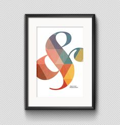 Poster with ampersand. Made by me! Font: Elephant Italic.