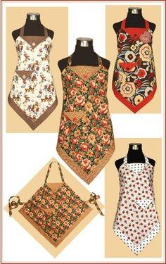 Four Corners Apron. New project to teach niece in her desire to mefrusat mutfak önlük learn to sew. Vintage Apron Pattern, Apron Pattern Free, Aprons Vintage, Retro Apron Patterns, Quilt Pattern, Sewing Aprons, Sewing Clothes, Diy Clothes, Clothes Women