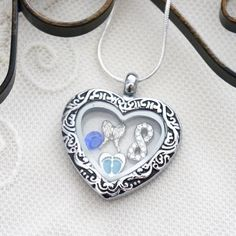 Miscarriage Heart Necklace, Miscarriage Heart Locket, Personalized Locket, Infinity Heart Angel Wing Necklace, Birthstone Necklace, Custom