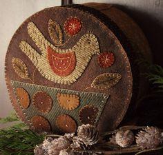 Wooly Bird in Basket Box by Rebekah L. Smith rebekahlsmith.com