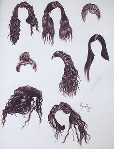 Pencil Art Drawings, Art Drawings Sketches, Cute Drawings, Lorde Hair, Pelo Anime, Hair Sketch, How To Draw Hair, Hair Art, Drawing People