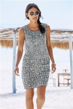 Buy Charcoal Embroidered Dress from the Next UK online shop