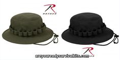 """""""Boonie Hats/Pith Helmets"""" Here you will find the latest selection of Rothco's Boonie & Bucket Hats. These classic military caps comes in a variation of styles and colors including Camo, they range in sizes from 6 ¾"""" thru 8"""". Also included is a selection of Pith Helmets, Leather Pilot Helmets and more."""