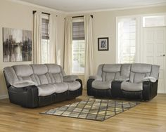 Tafton Two Tone Reclining Sofa Set | Ashley | Home Gallery Stores