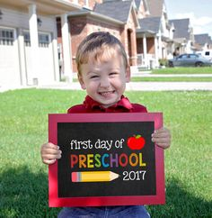 Preschool Sign, First day of school sign printable, Pre-School Printable Sign, First day of Preschool, back 2 school sign, Preschool by SugarPickle Designs, $4.00 USD
